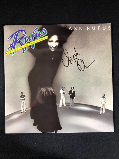 "Rufus Featuring Chaka Khan ""Ask Rufus"" Chaka Khan Autographed Album"
