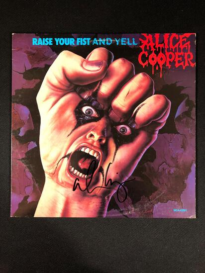 "Alice Cooper ""Raise Your Fist and Yell"" Autographed Album"