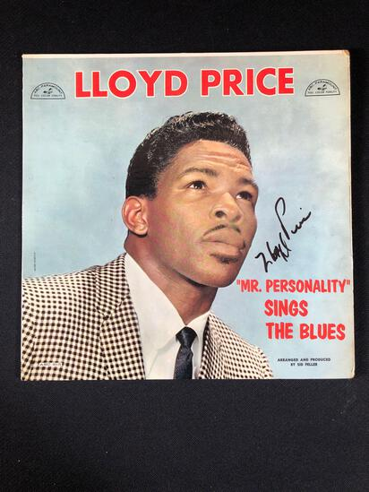 "Lloyd Price ""Mr. Personality Sings The Blues"" Autographed Album"