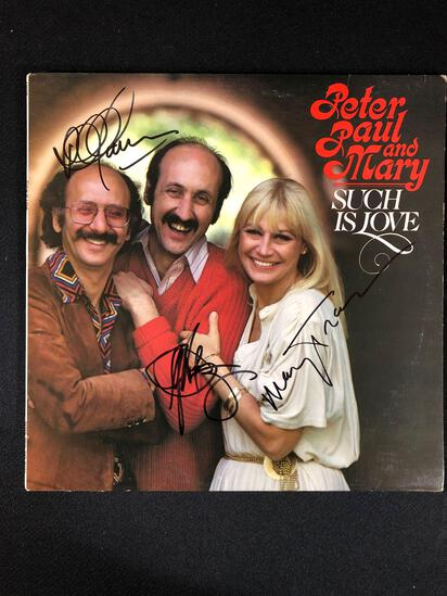 "Peter, Paul and Mary ""Such Is Love"" Autographed Album"