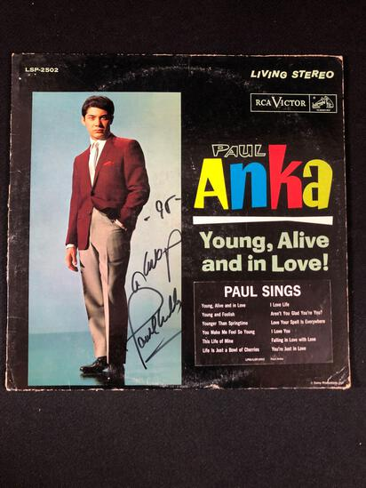 "Paul Anka ""Young, Alive and In Love"" Autographed Album"
