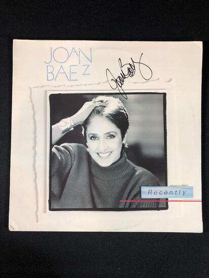 "Joan Baez ""Recently"" Autographed Album"