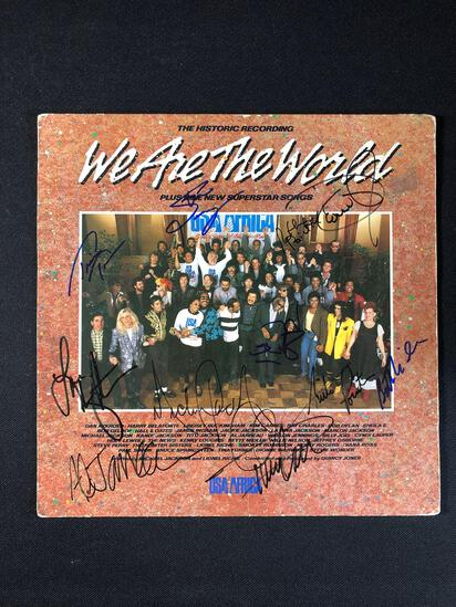 """We Are The World"" Autographed Album (Cover Only)"