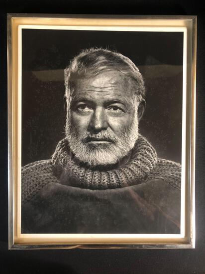 Yousuf Karsh (Armenian/Canadian 1908-2002) Photograph Of Ernest Hemingway Framed
