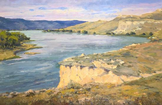 "Bob Barlow (American, 1934 -) ""Missouri River"", Oil On Canvas, Signed Lower Right"