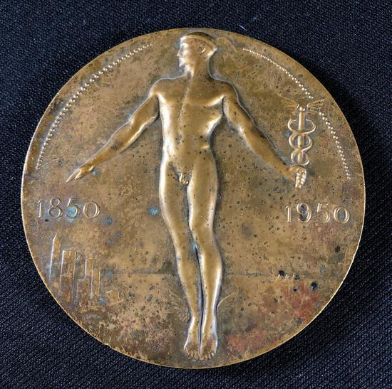Arthur Lee (American 1881-1961) Mercury with Caduceus Bronze, Medallic Art Co. N.Y.