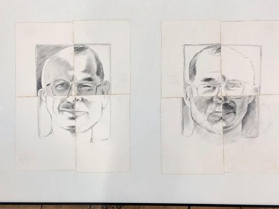 Neil Meitzler (American1930-2009) High-brid Portraits, Pencil, Signed Bottom Right 96'