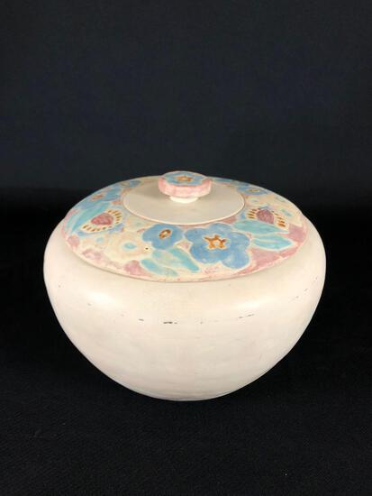 Mary Frances Overbeck (American 1878-1955) Art Pottery Covered Bowl, Signed