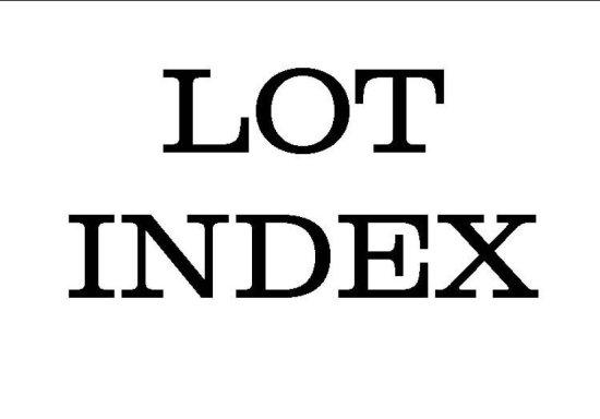 LOT INDEX