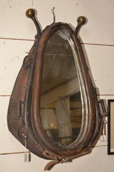 Antique Mirror Horse Collar W/