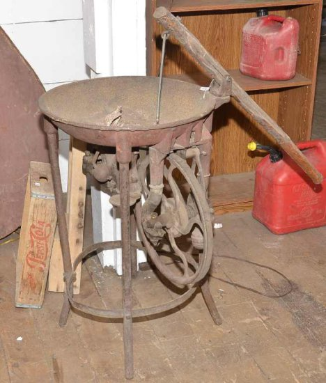 Vintage Cast Iron Forge; Broke