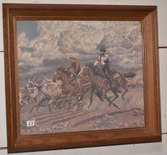 Western Print-driving Long Hor