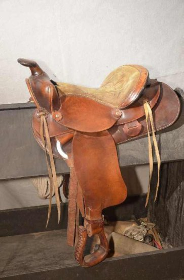 "14"" Leather Western Saddle, Ma"