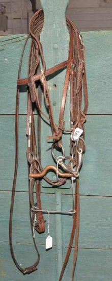 Bridle W/copper Curved Bit & S