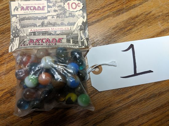 Arcade Cast Iron Toys Marbles Pack