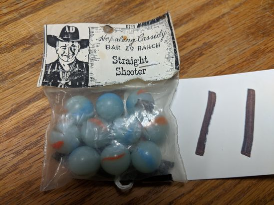 Hopalong Cassidy Bar 29 Ranch Straight Shooter Marble Pack
