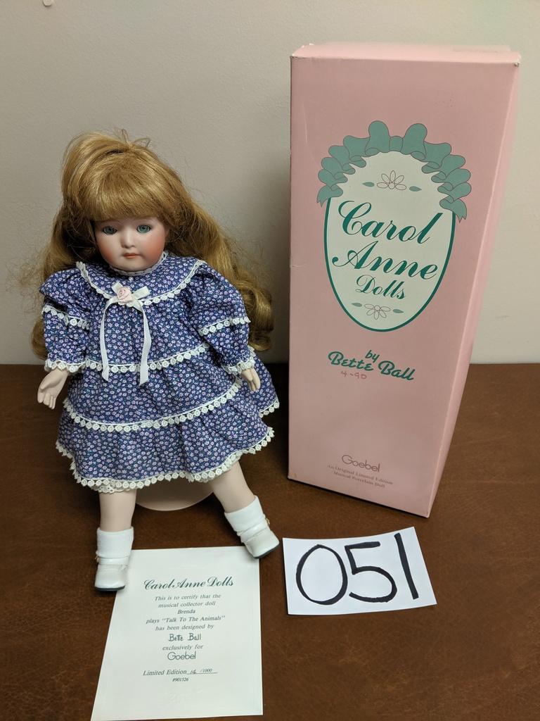 Porcelain Doll Carol Anne Dolls - Musical  Art, Antiques