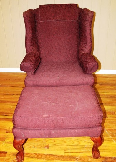 Parlor chair and Ottoman