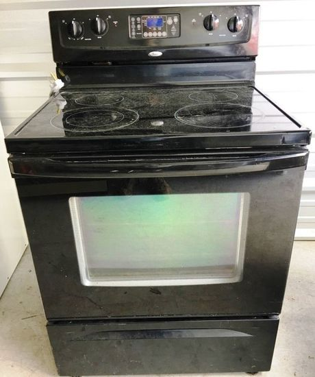Solid surface electric range