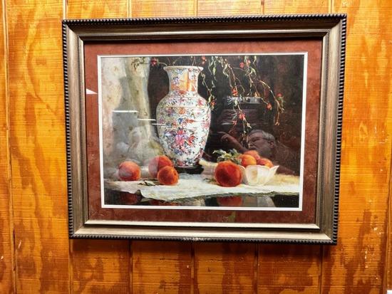 2 pieces framed art