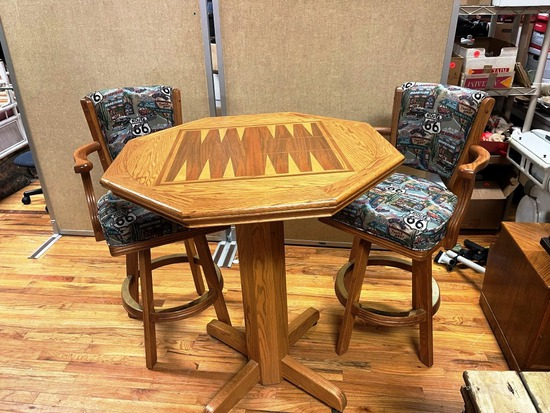 Game Table and Stools