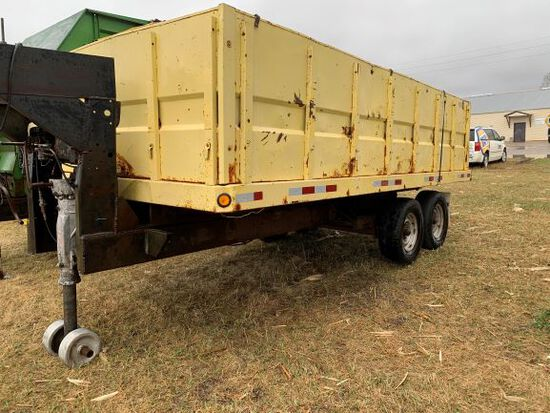 16 Ft Homemade Gooseneck Dump Trailer