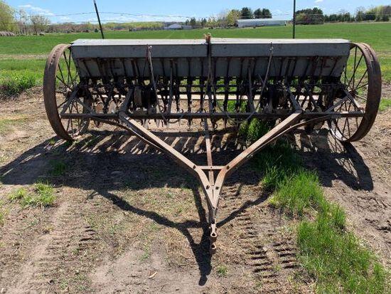 John Deere Vanbrunt 10 Ft Grain Drill With Grass Seeder