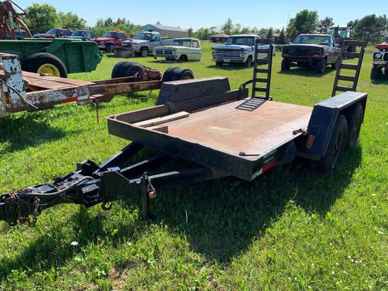 Tandem Axle Skid Steer Trailer With Ramps