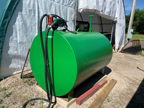 500 Gallon Fuel Tank With Electric Pump