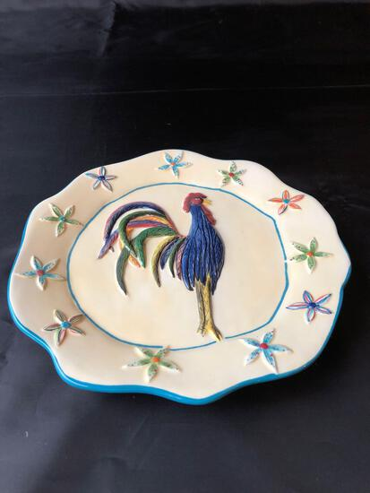 Cindy Shamp Rooster Plates