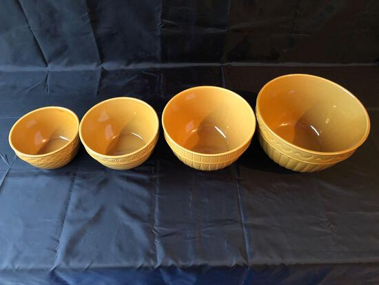 Four Glass Heavy Duty Bowls