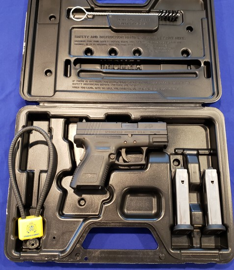 SPRINGFIELD ARMORY XD9 SUBCOMPACT PISTOL 9MM EXCELLENT CONDITION