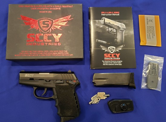 SCCY CPX-1CB PISTOL, 9MM LIKE NEW IN BOX