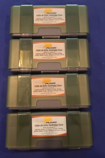 PLANO RIFLE CARTRIDGE CASES NEW QTY 4