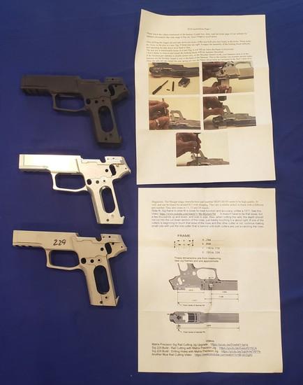 80% SIG SAUER P229 FRAMES QTY 3, NO FFL REQUIRED