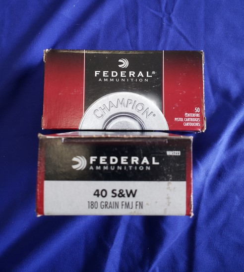 FEDERAL .40 S&W 180GR FMJ FN… 100RDS