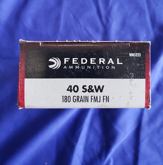 FEDERAL .40 S&W 180GR FMJ FN… 50 RDS