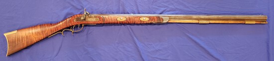 BEAUTIFUL MUZZLE LOADER, UNKNOWN MFR AND CALIBER