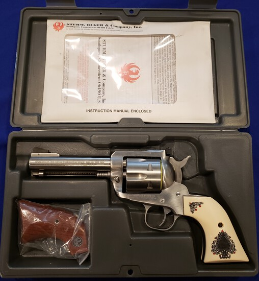 RUGER NEW MODEL BLACKHAWK .357 STAINLESS REVOLVER - NEW IN BOX