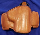 HOLSTER BIANCHI 106 SIZE 14 TAN LEATHER