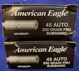AMMO AMERICAN EAGLE .45 ACP 230GR FMJ SUBSONIC