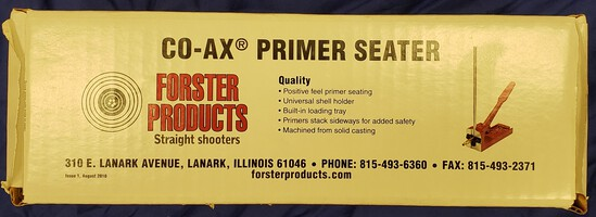 Forster CO-AX Primer Seater