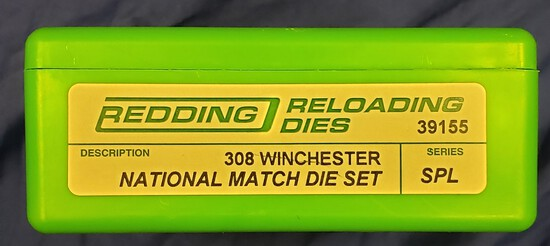 Redding Reloading Dies 308 Winchester National Match Die Set