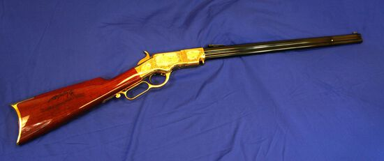 Taylors/Uberti Henry Model 1860 America Remembers Frank McCarthy Commemorative Lever Action Rif