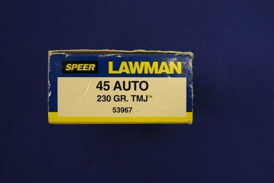 Speer/LawManufactured 45 Auto ammo