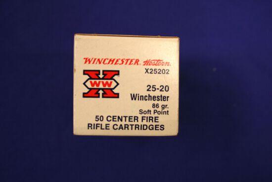Winchester 25-20 winchester ammo