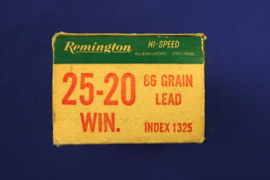 Remington 25-20 winchester ammo