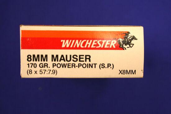 Winchester 8mm Mauser ammo