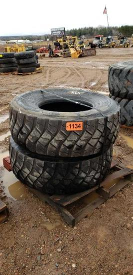 (2) Tires 445/65r22.5
