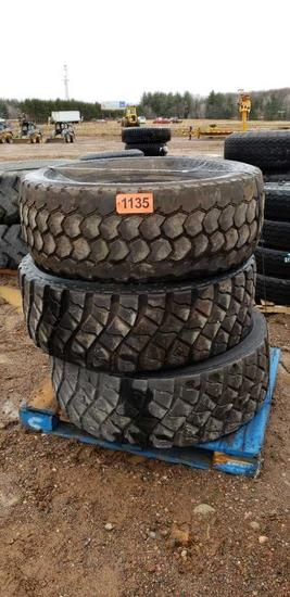 (3) Tires 445/65r22.5